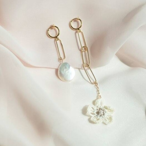 MERRYMOTIVE#[MERRYMOTIVE] Just one flower and pearl earring_MX9XX0100